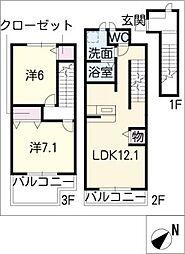 メゾン フィオーレ[3階]の間取り