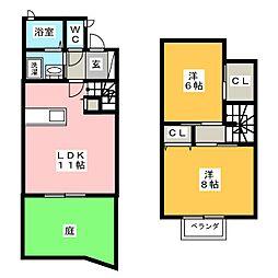 メゾネット桜町[1階]の間取り