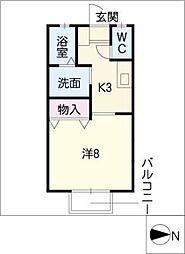 サニーコート D棟[1階]の間取り