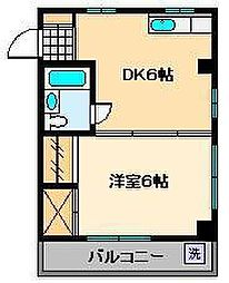 パークハイツ桜木[2階]の間取り