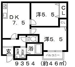 ミューゼ21[101号室号室]の間取り