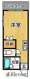 マキシム箱崎[203号室]の間取り