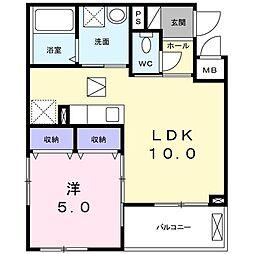 南清和園町アパート[0105号室]の間取り