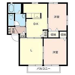 シャーメゾン相沢B[2階]の間取り