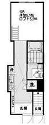 東京都新宿区筑土八幡町の賃貸アパートの間取り