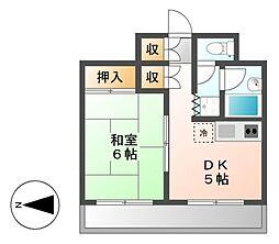 パール熱田[6階]の間取り