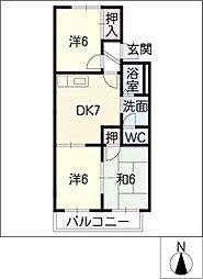 パルホームTOMIRYO S棟[1階]の間取り