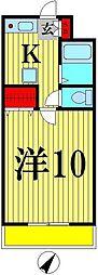フューチャードリーム松戸[208号室]の間取り