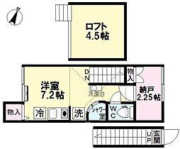 アイコート上井草[201号室]の間取り