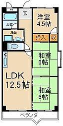 ソシアハイツ・オクダ[3階]の間取り