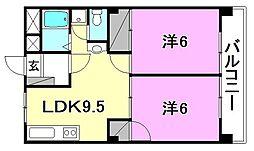 アルジェント朝生田[406 号室号室]の間取り
