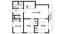 ホープ愛宕II[201号室]の間取り