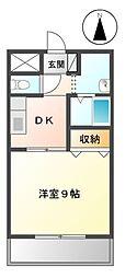 愛知県名古屋市熱田区外土居町の賃貸マンションの間取り