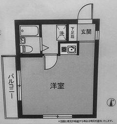 横浜反町ハイツ[102号室]の間取り