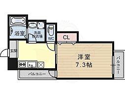 メゾンフォロー 3階1Kの間取り