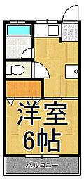 サンハイツ大関[2FD号室]の間取り