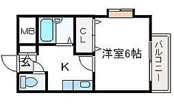 川瀬マンション[101号室]の間取り