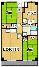 田尻マンション[304号室]の間取り