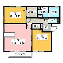 プリマヴェーラ[3階]の間取り