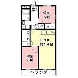 HOUSE610[4D号室]の間取り