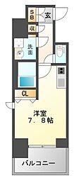 レジディア江坂II[13階]の間取り