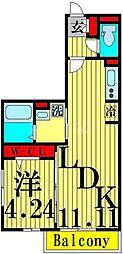 仮)D-room花畑PJ 1階1LDKの間取り