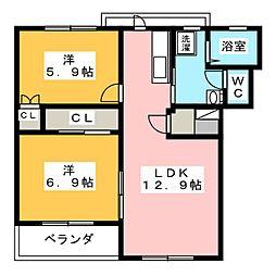 コンフォードI[3階]の間取り