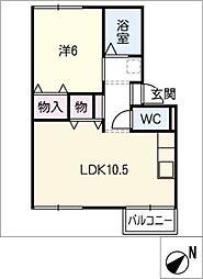 さくら荘A[2階]の間取り