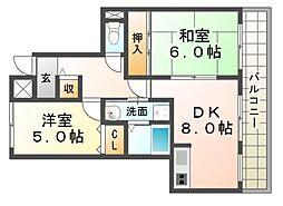 日新ビル[4階]の間取り