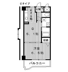 東京都豊島区南長崎5丁目の賃貸マンションの間取り