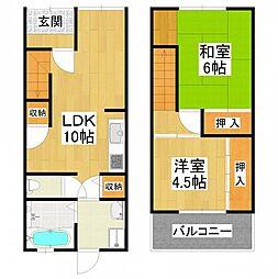 [テラスハウス] 大阪府堺市東区西野 の賃貸【/】の間取り