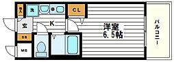 ラナップスクエア上本町[9階]の間取り