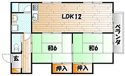 コーポ円(まどか)[2階]の間取り