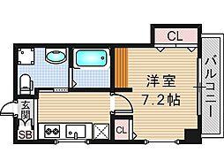 リバーライズ東小橋II[206号室]の間取り
