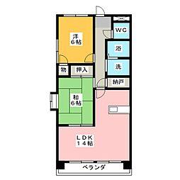 下寺マンション[5階]の間取り