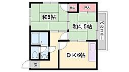 旭マンション[2階]の間取り