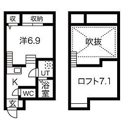 BLISS COURT[2階]の間取り