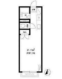 エステートピア吉川[2階]の間取り