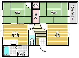 ピネスタウン A棟[2階]の間取り
