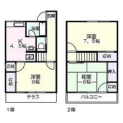 [タウンハウス] 千葉県柏市南逆井4丁目 の賃貸【/】の間取り