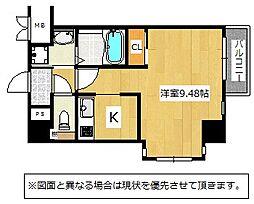 Studie KOKURA NORTH[3階]の間取り