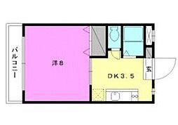 セレッソ赤坂[302 号室号室]の間取り