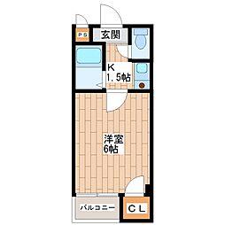 ツインコート平野II番館[3階]の間取り