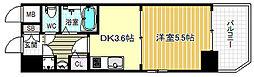 大阪府大阪市北区中崎2の賃貸マンションの間取り