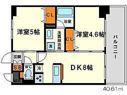 エステムコート新大阪IXグランブライト[8階]の間取り