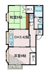 NKハイツ3[1階]の間取り