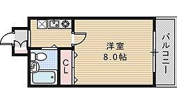 ウィングハウス[202号室]の間取り