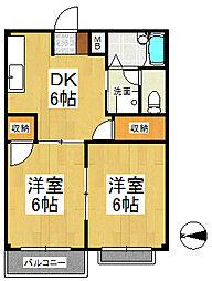 コーポサカイII[2階]の間取り