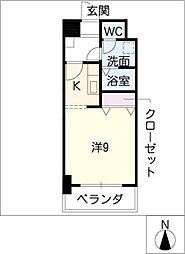 レジデンス新瀬戸[8階]の間取り