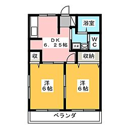 クレールハイツA[2階]の間取り